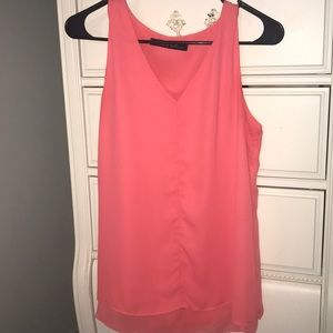 Flowy, coral tank top. Size Large